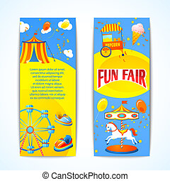 Carnival banners vertical - Amusement entertainment carnival...