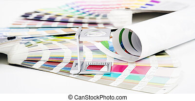 Lens Prepress concept - Lens and pantone Design and prepress...