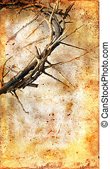 Crown of Thorns on a Grunge Background
