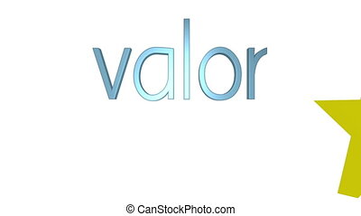 Five Star Valor Spanish - Three dimensional animation of the...