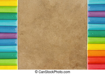 earthy background - Earthy background and plasticine with...