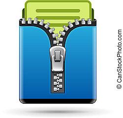 Folder icon isolated on white