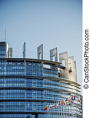 Seat of the European Parliament in Strasbourg - STRASBOURG,...