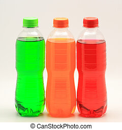 soft drink - colorful of soft drink bottles