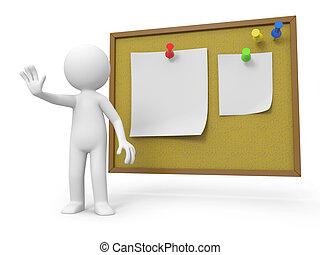 notepaper - A 3d people making a %u201Cstop%u201Dgesture, a...