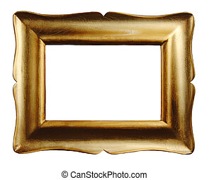 Gold Picture Frame - Gold leaf picture frame empty for your...