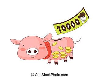 A piggy money box