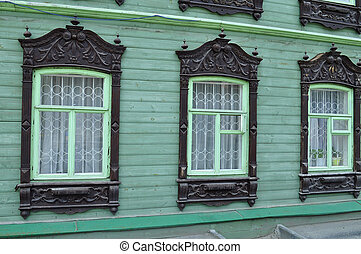 Windows of an architectural and historical monument to...