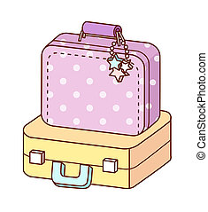 A view of suitcase