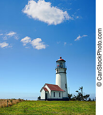 Cape Blanco Lighthouse, Oregon - Cape Blanco Lighthouse on...