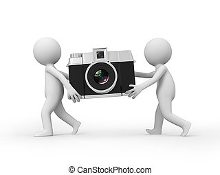 camera - Two 3d people carrying a cameracamera