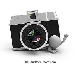 camera - A 3d people pressed by a cameracamera