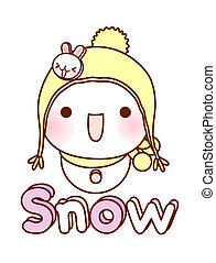 A view of snow man