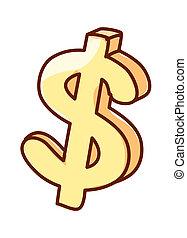 A simbol of dollar