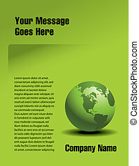 Green Vector page design - Vector page design with a global...