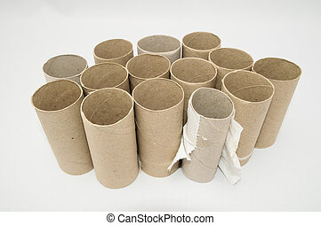 Empty Toilet Paper Roll - Empty Toilet Rolls Stack Up On a...