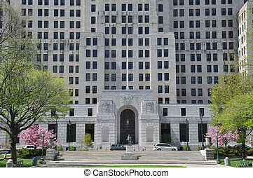 Alfred E. Smith State Office Building in Albany, New York...