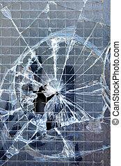broken window texture - Broken window surface detail...