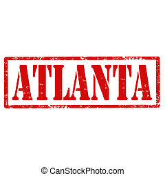 Atlanta-stamp - Grunge rubber stamp with text Atlanta,vector...