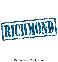Richmond-stamp - Grunge rubber stamp with text...