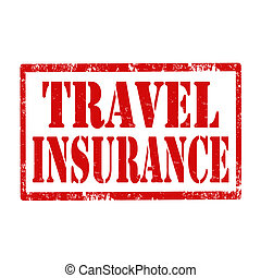 Travel Insurance-stamp - Grunge rubber stamp with text...