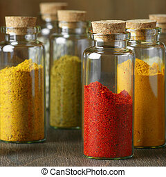Spices in bottles - Assorted ground spices in bottles...