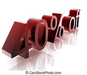 Forty percent discount - Forty Percent discount, retail...