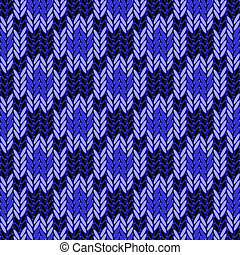 Design seamless colorful geometric knitted pattern. Thread...