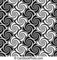 Design seamless monochrome vortex zigzag pattern