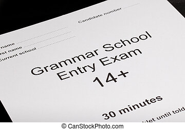 Entrance exam paper for an exam