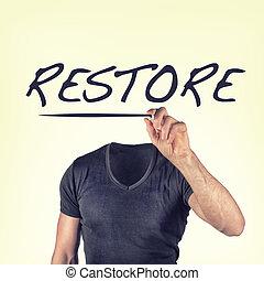 restore - picture of a restore concept