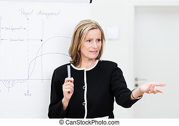 Businesswoman giving a presentation - Attractive middle-aged...