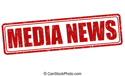 Media News stamp - Media News grunge rubber stamp on white,...