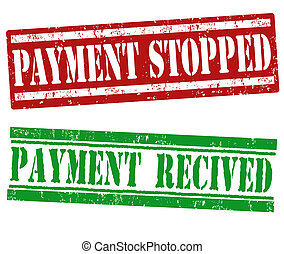 Payment stopped and payment recived stamps - Payment stopped...