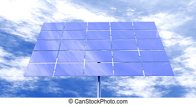 Solar Energy - 3D Illustration Natural Sky Background