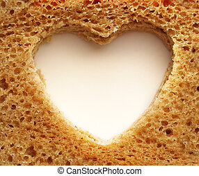 Slice of bread and heart