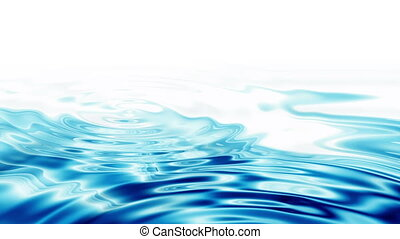 Abstract Crystal Clear Blue Water R
