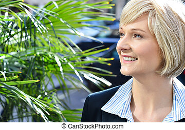 Gorgeous pretty smart business lady - Confident smiling...