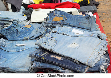 A lot vintage jeans with seams for sale
