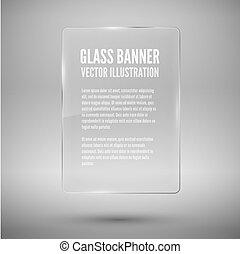 Glass framework. Vector illustration. - Glass baner template...