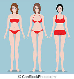 Female body front
