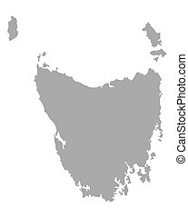 Map of Tasmania
