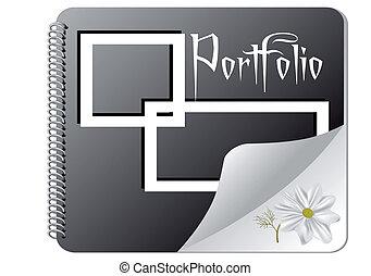 portfolio isolated on white background. 10 EPS