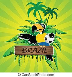 futebol, caráteres, mascote