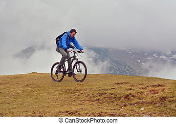 mountain biking and a storm approaching
