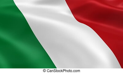 Italian flag in the wind. Part of a series. 4K resolution...