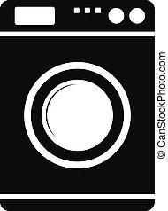 Washing machine icon on white background.