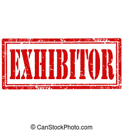 Exhibitor-stamp - Grunge rubber stamp with text...