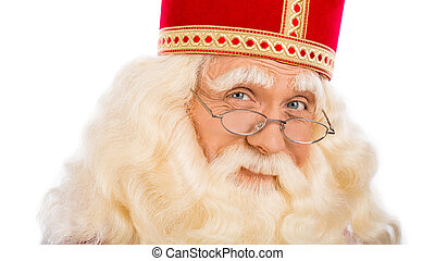 Sinterklaas close up on white background - Sinterklaas...