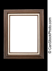 Picture Frame - Wood Picture Frame with black background